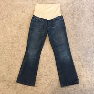 7 For All Mankind Short Bootcut Maternity Jeans